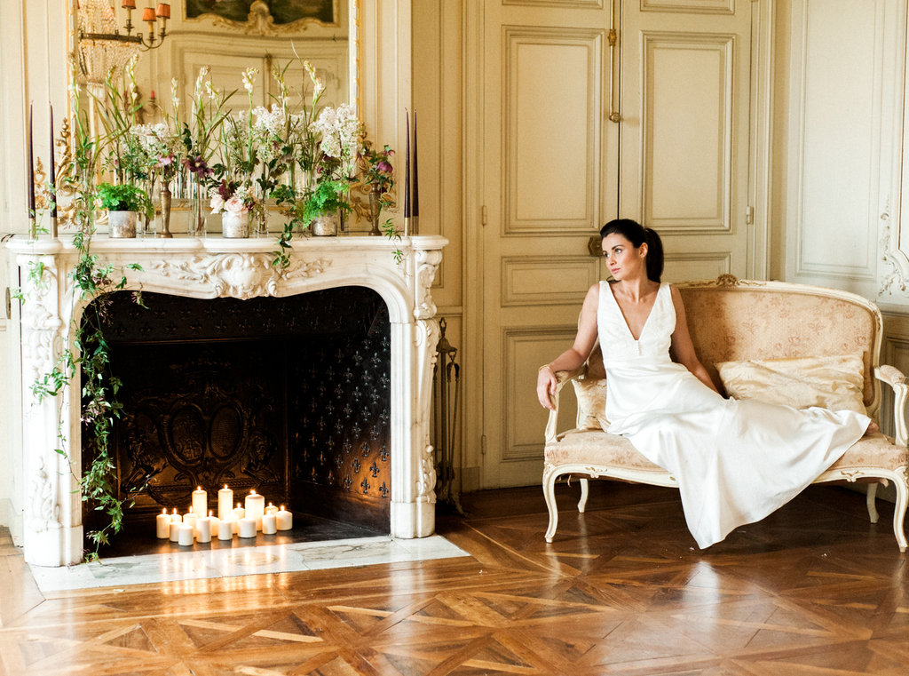 French wedding photographer at Chateau de Varennes in Burgundy