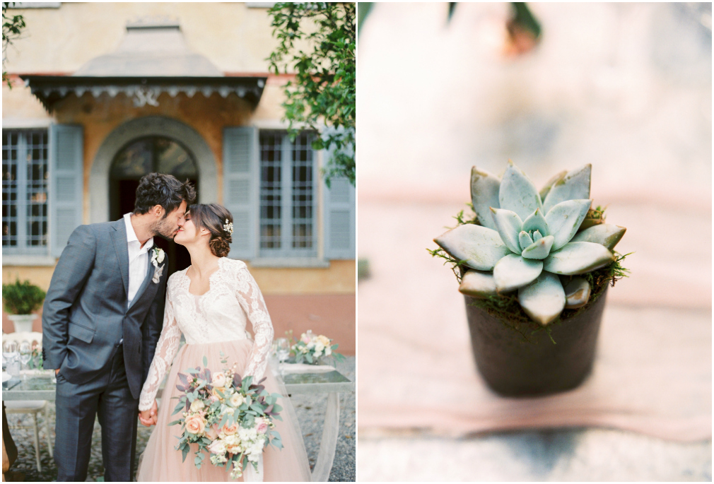 Peach and Blush wedding in Lake Como