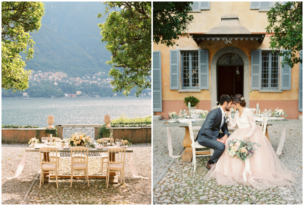 Wedding table on Lake como shores