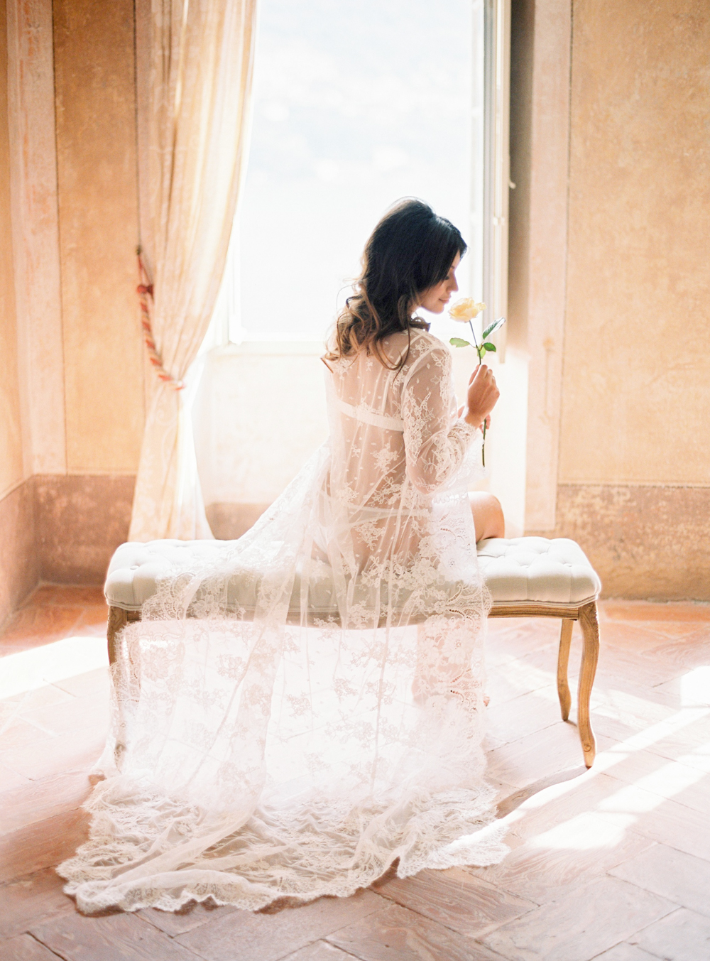 Bride in Lace robe