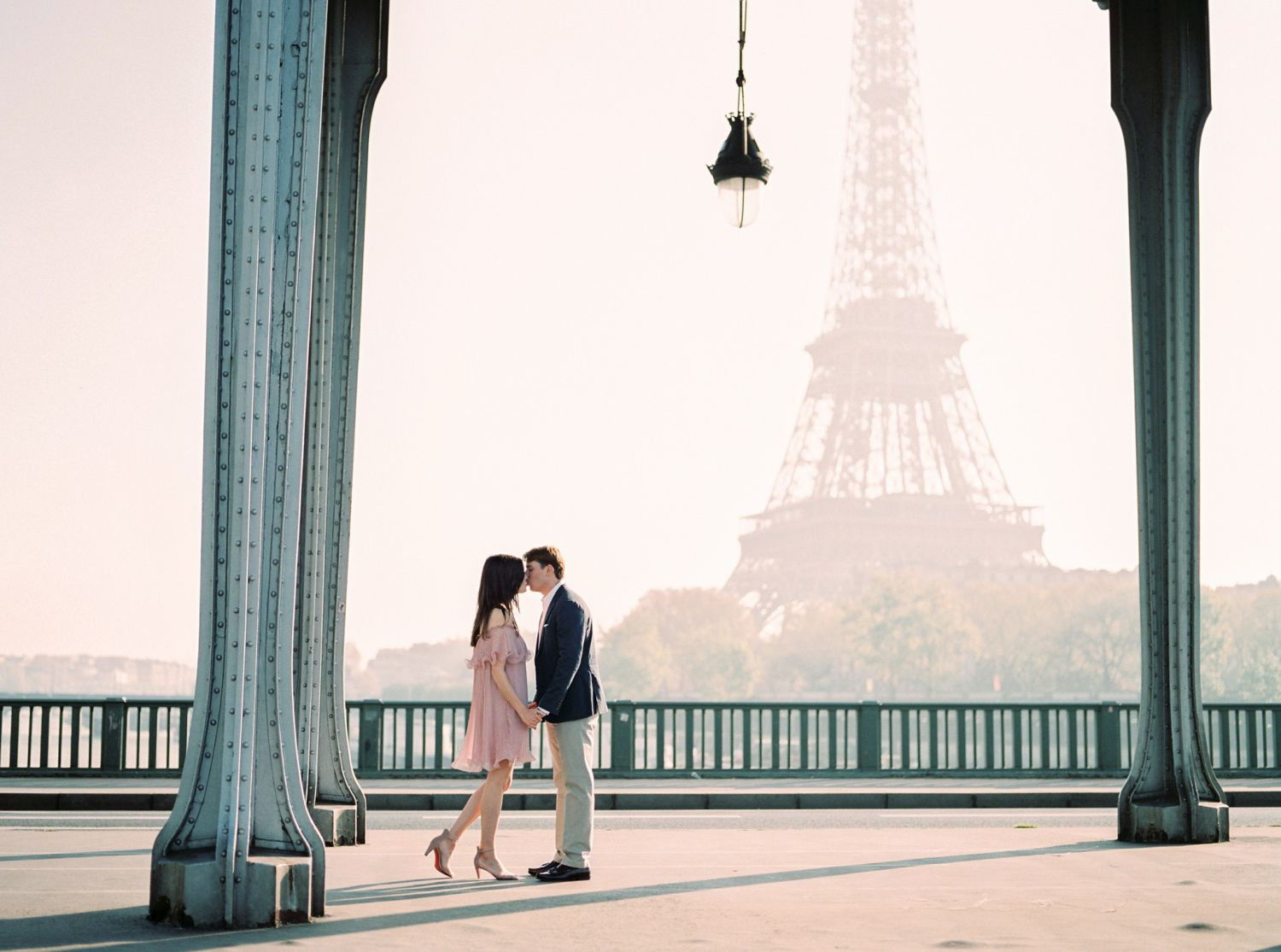 Paris romantic engagement photos