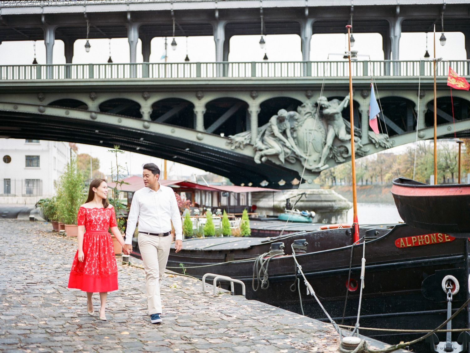 river seine Paris engagement phot