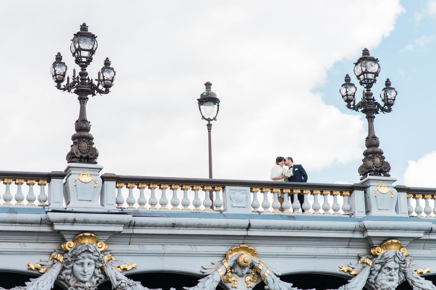 Pont Alexandre III Paris prewedding photo