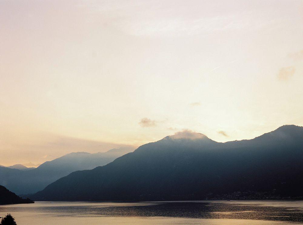 Sunset in Lake Como
