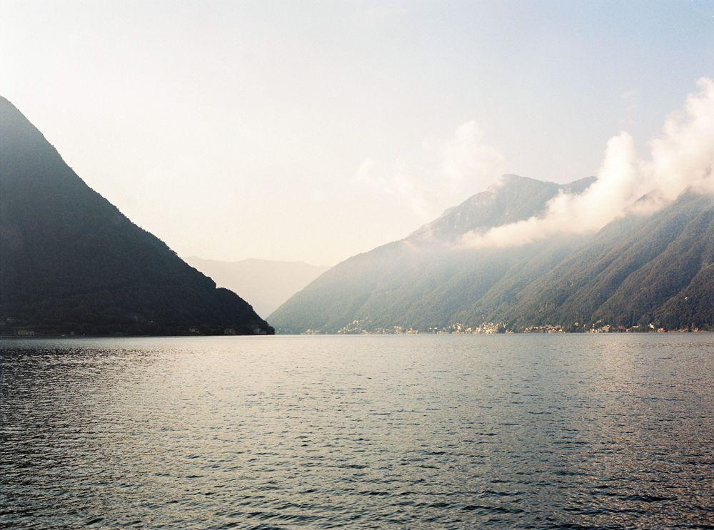 Sunrise over Lake Como