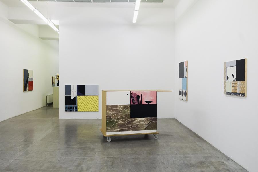 Kerstin Engholm Galerie, Ausstellungsansicht,David Ben White,  Living Room , 2013.