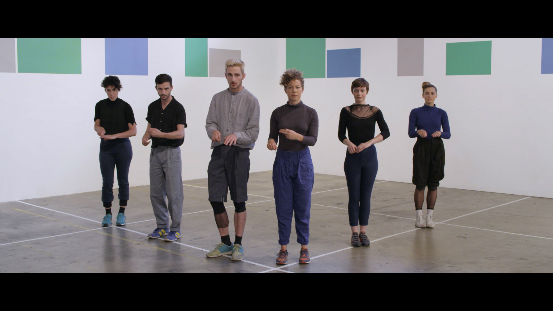 Still from: Julien Prévieux,  What Shall We Do Next? (Sequence # 2),  2014. HD Video, 16'47''.