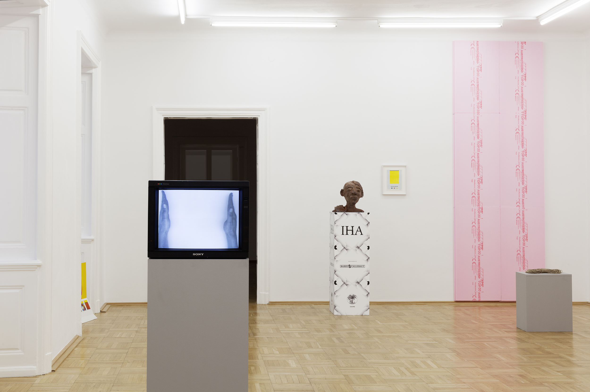 Galerie Nächst St. Stephan Rosemarie Schwarzwälder, Ausstellungsansicht   Produktion,  2015  .  Foto: Markus Wörgötter.