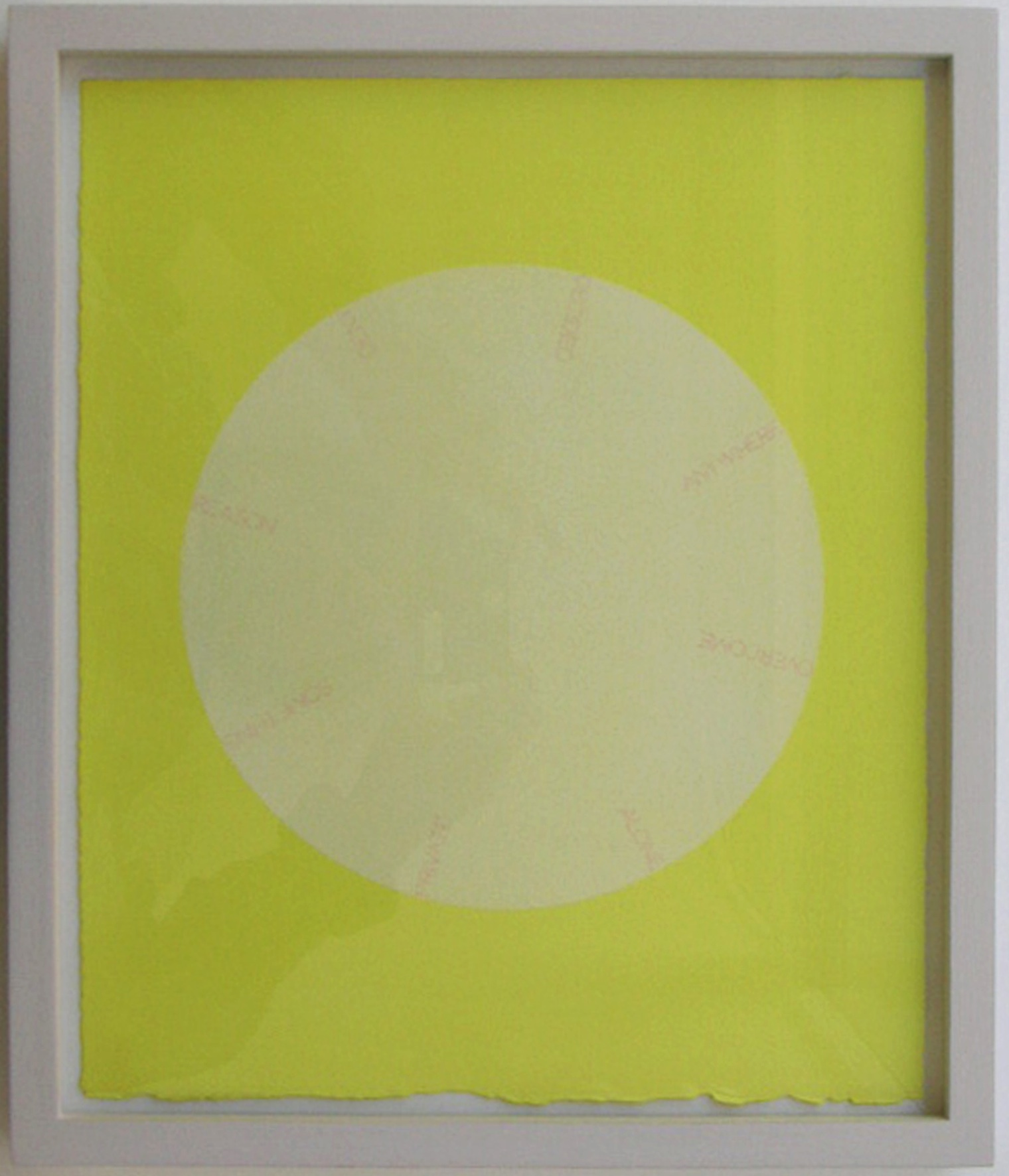 Robert Barry,  Untitled (lemon),  2004. Acryl und Tinte auf Papier. 32 x 26 cm.
