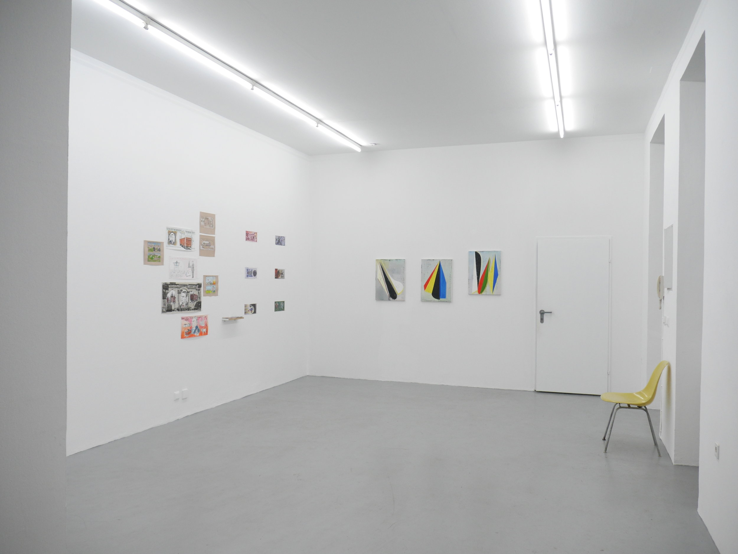 Exhibition View, Hommage — Ideal or Pattern?, curated by Edit Sasvári, Galerie Knoll, 2016, Courtesy: Galerie Knoll