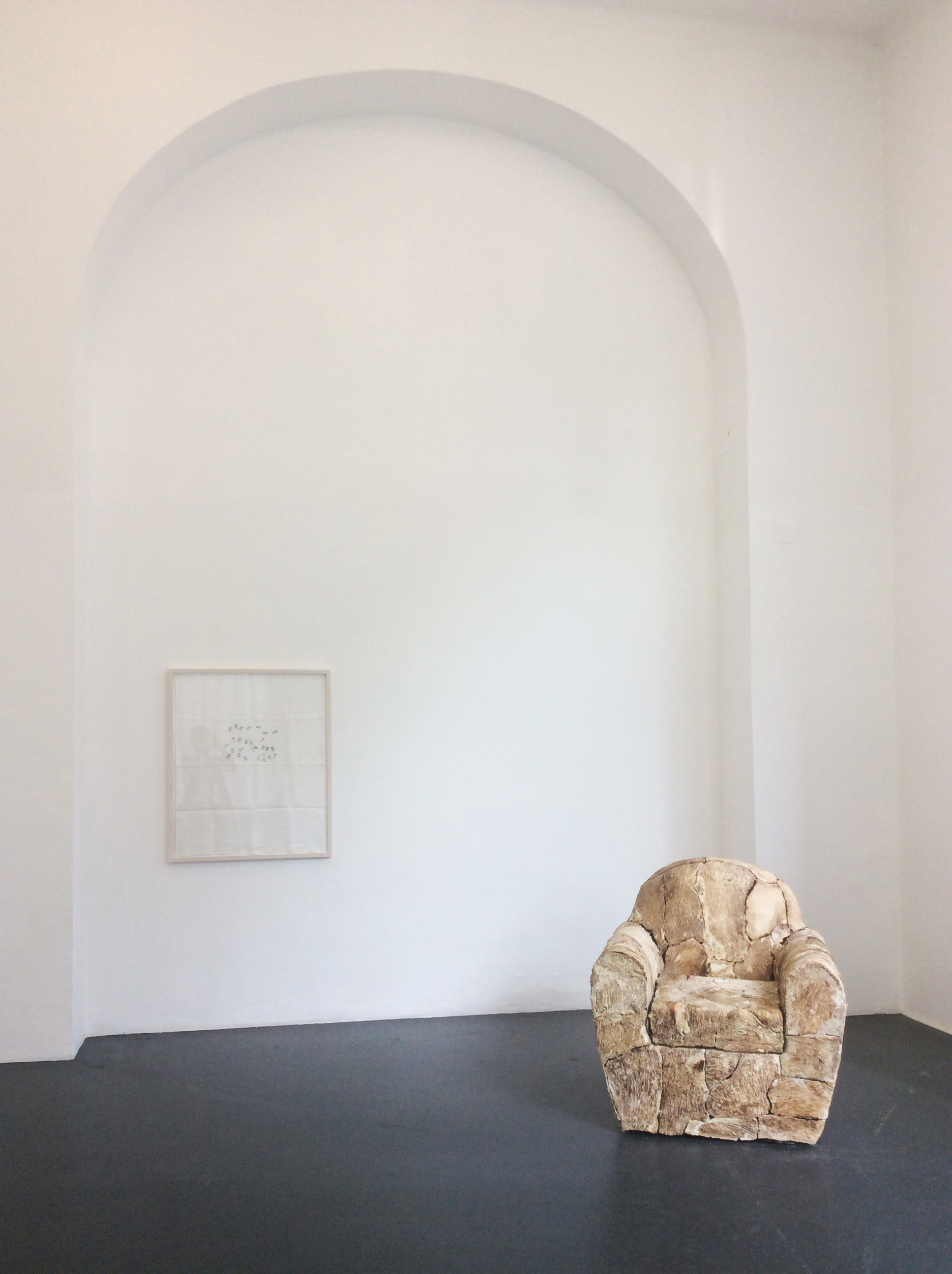 """Exhibition view """"I´ve decided to be Happy because it´s good for one´s health"""" by Jana Sterbak, Galerie Steinek, 2016, Photo: Tachdjian"""