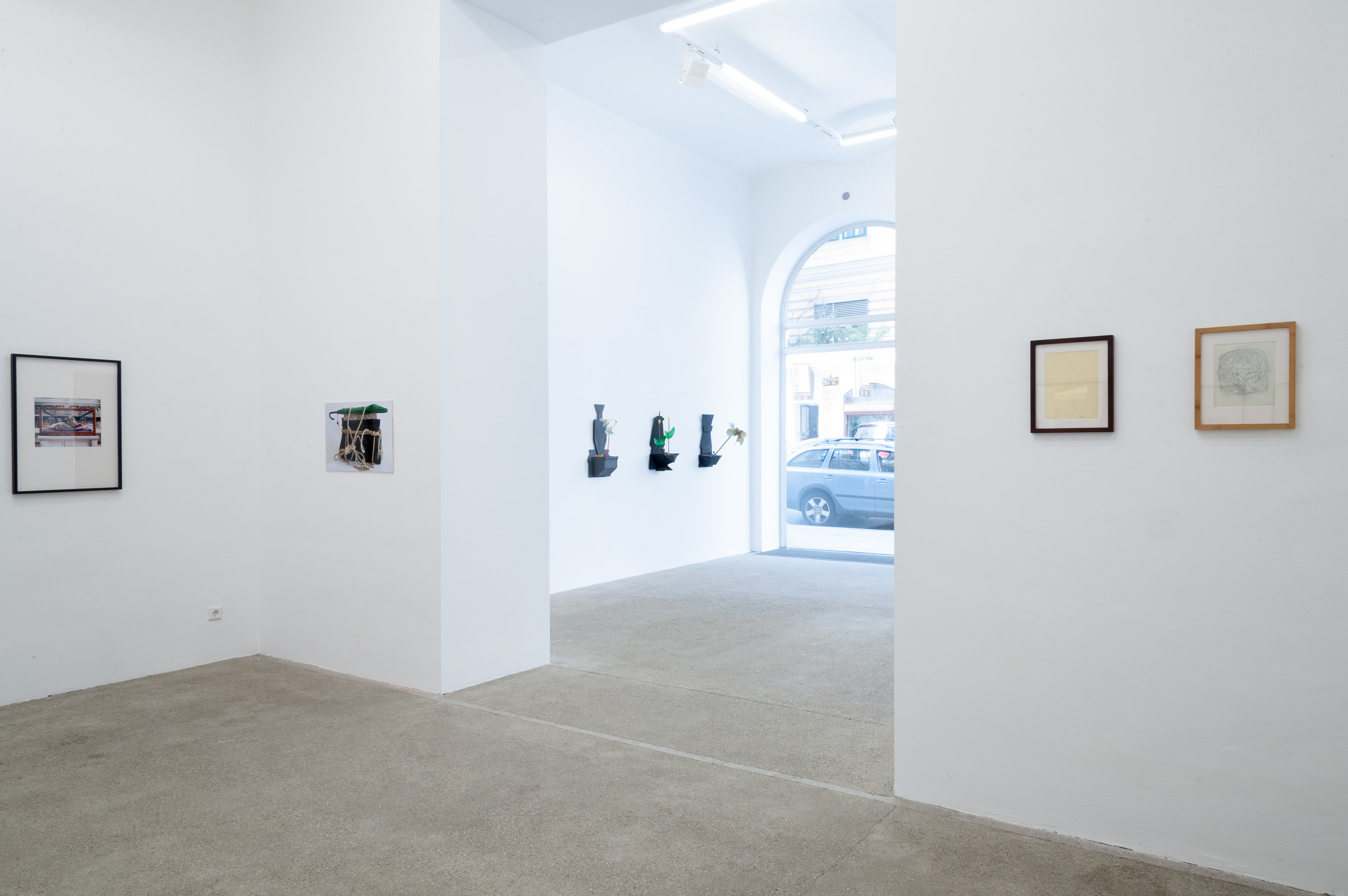 RETRO STORE curated by_Veit Loers, exhibition view, Galerie Elisabeth & Klaus Thoman, Vienna, 2015, Photo: Galerie Elisabeth & Klaus Thoman/ Michael Kofler