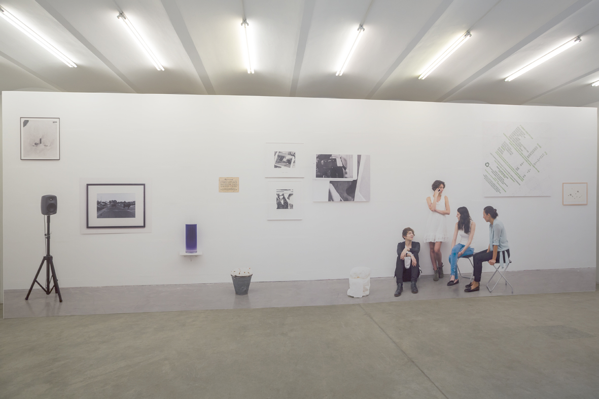 """Exhibition View """"In Real Life"""", curated by_Luca Lo Pinto, Galerie Christine König, 2014, Courtesy: Christine König Galerie"""