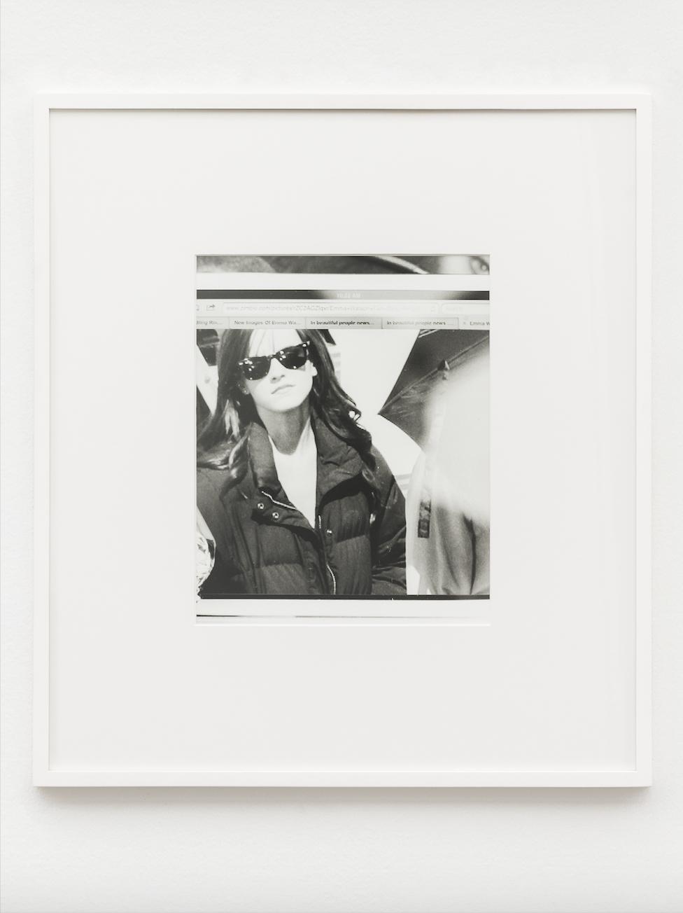 IN REAL LIFE curated by_Luca Lo Pinto, TOBIAS KASPAR, TBR (fig.10) Emma Watson, 2013, Silbergelantine-Abzug, matt, 65 x 58 cm, Photo: GChristine König Galerie, Vienna, 2014, Courtesy: Tobias Kaspar und Christine König Galerie