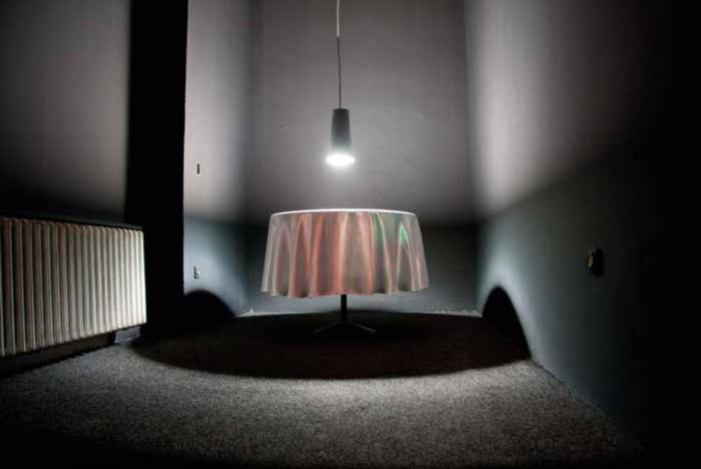 Das kleine i, curated by_Dirck Möllmann, Lana Cmajcanin, 166987 Pricks, 2013, Tischdecke, Seide, Stickerei, Seidenstickgarn, variable Größe, Photo: Joana Dias