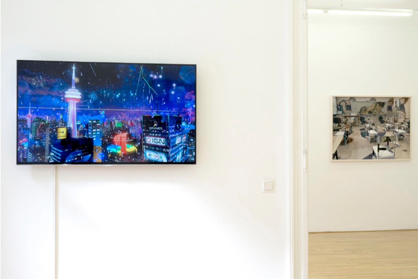 Instrumental Assistance curated by_Kristina Scepanski, Exhibition View, Galerie Andreas Huber, 2014, Photo: Karl Kühn