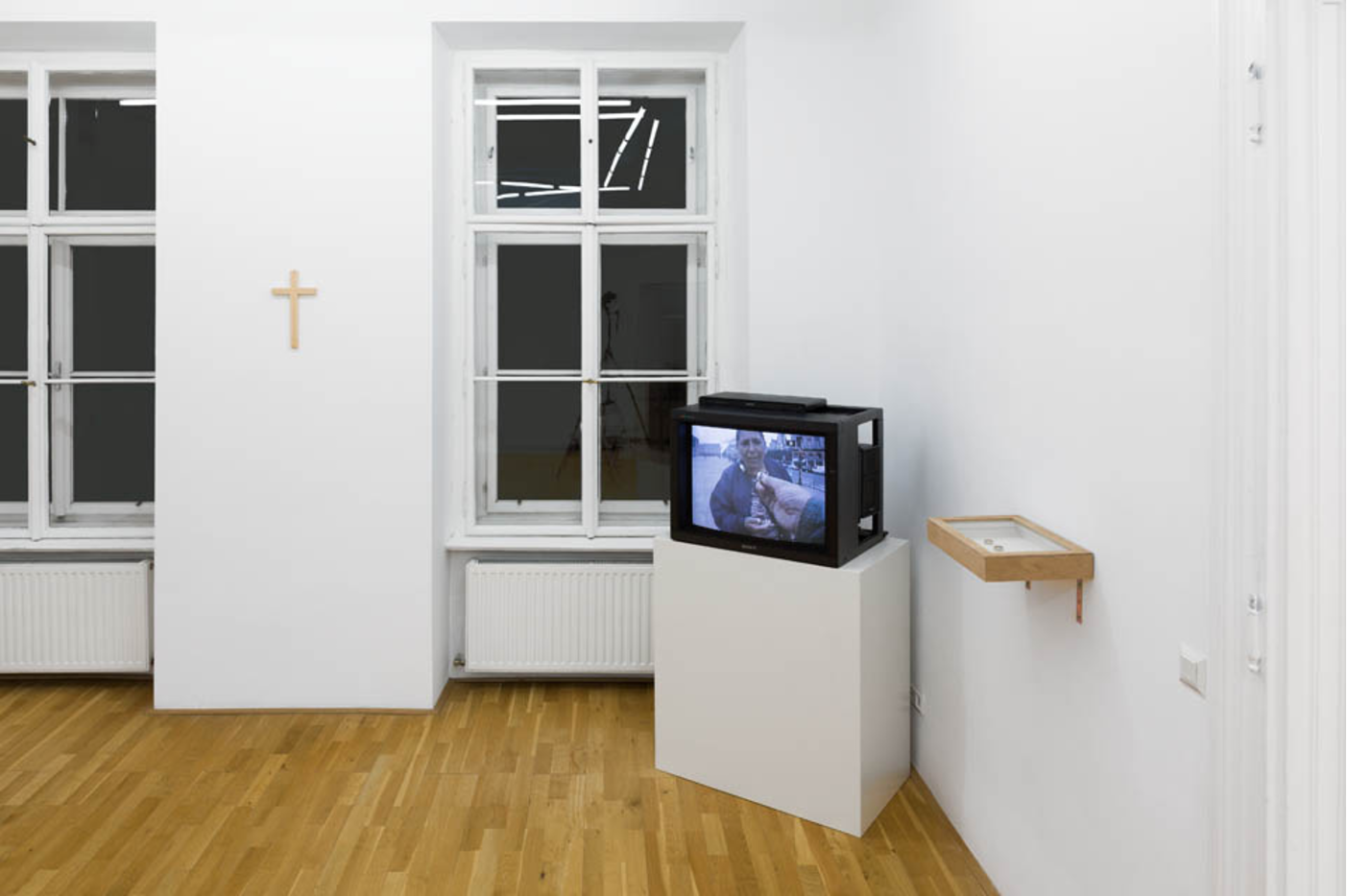 Exhibition View, Galerie Andreas Huber, Detective, curated by_Adam Carr, 2012, Photo: Georg Petermichl