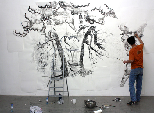 Galerie Charim, curated by_Jérôme Sans, 2009, Qiu Zhijie