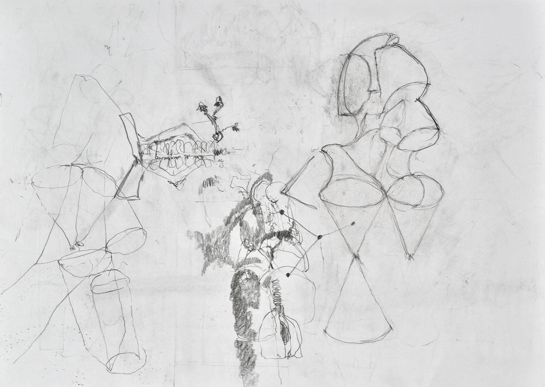FRANCESCO GENNARI  SENZA TITOLO, 2016–2017 Pencil on paper / Bleistift auf Papier, 21 x 29,5 cm Courtesy by the artist, Galerie Antoine Levi, Paris,  Photo: Paolo Semprucci
