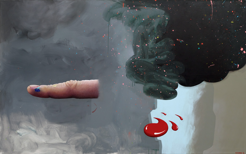 ASHLEY HANS SCHEIRL  OFFSHORE CREATIVITY, 2016 Acrylic on canvas / Acryl auf Leinwand, 125 x 200 cm Courtesy Galerie Loevenbruck, Paris  © Photo Fabrice Gousset