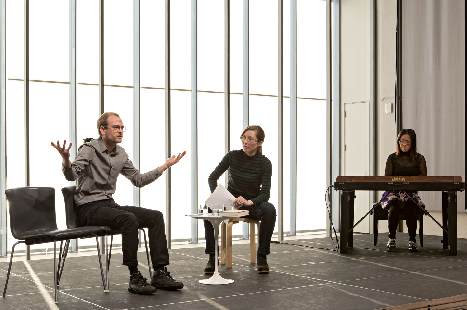 MICHÈLE GRAF & SELINA GRÜTER  ONE AGAINST ALL [UNO CONTRO TUTTI] Performance, Whitney Museum of American Art, 2018 Courtesy of the artists
