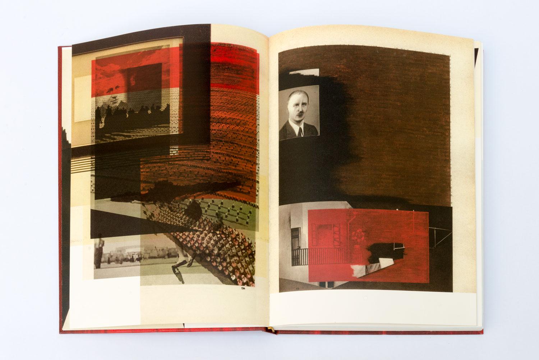 SVÄTOPLUK MIKYTA  ZEITGEISTLOS I, 2016–2017 Offset prints collage, book binding 31 x 24 x 3 cm Courtesy of Svatopluk Mikyta,  Photo: Michaela DVORAKOVA