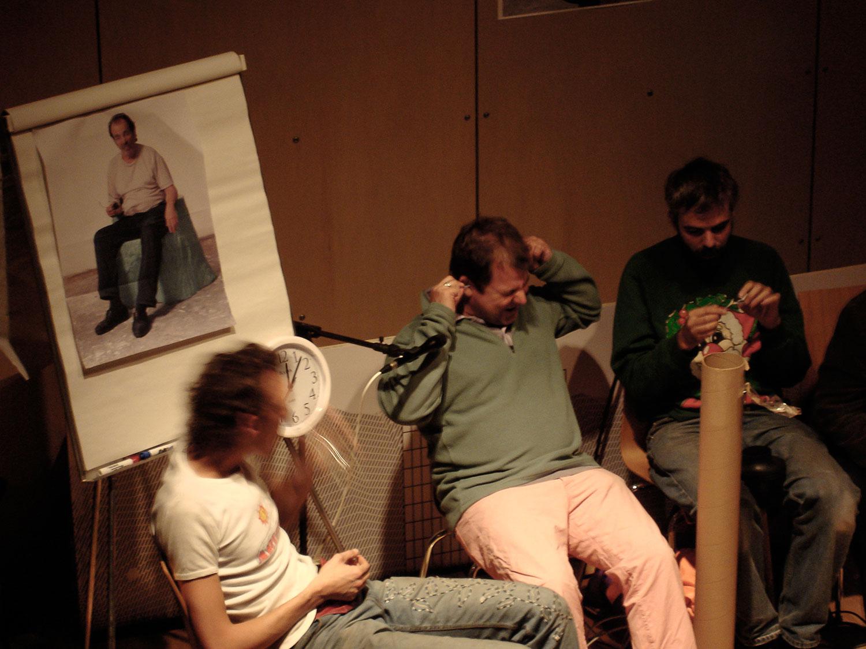 FRANZ WEST, GELATIN, JASON RHODES  PERFORMANCE, 2005 Österreichisches Kulturinstitut New York  Photo: mm