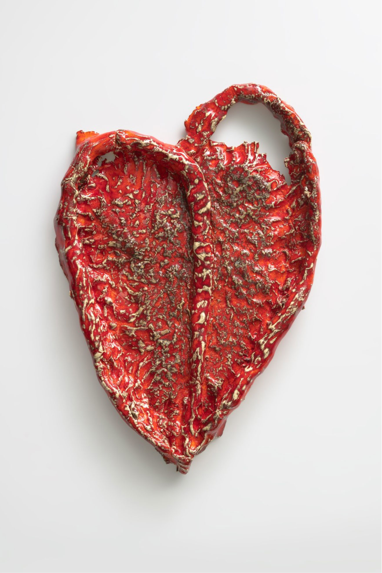 Heart 2018 Sterling Ruby   Ceramic, 52.1 x 35.6 x 5.1 cm