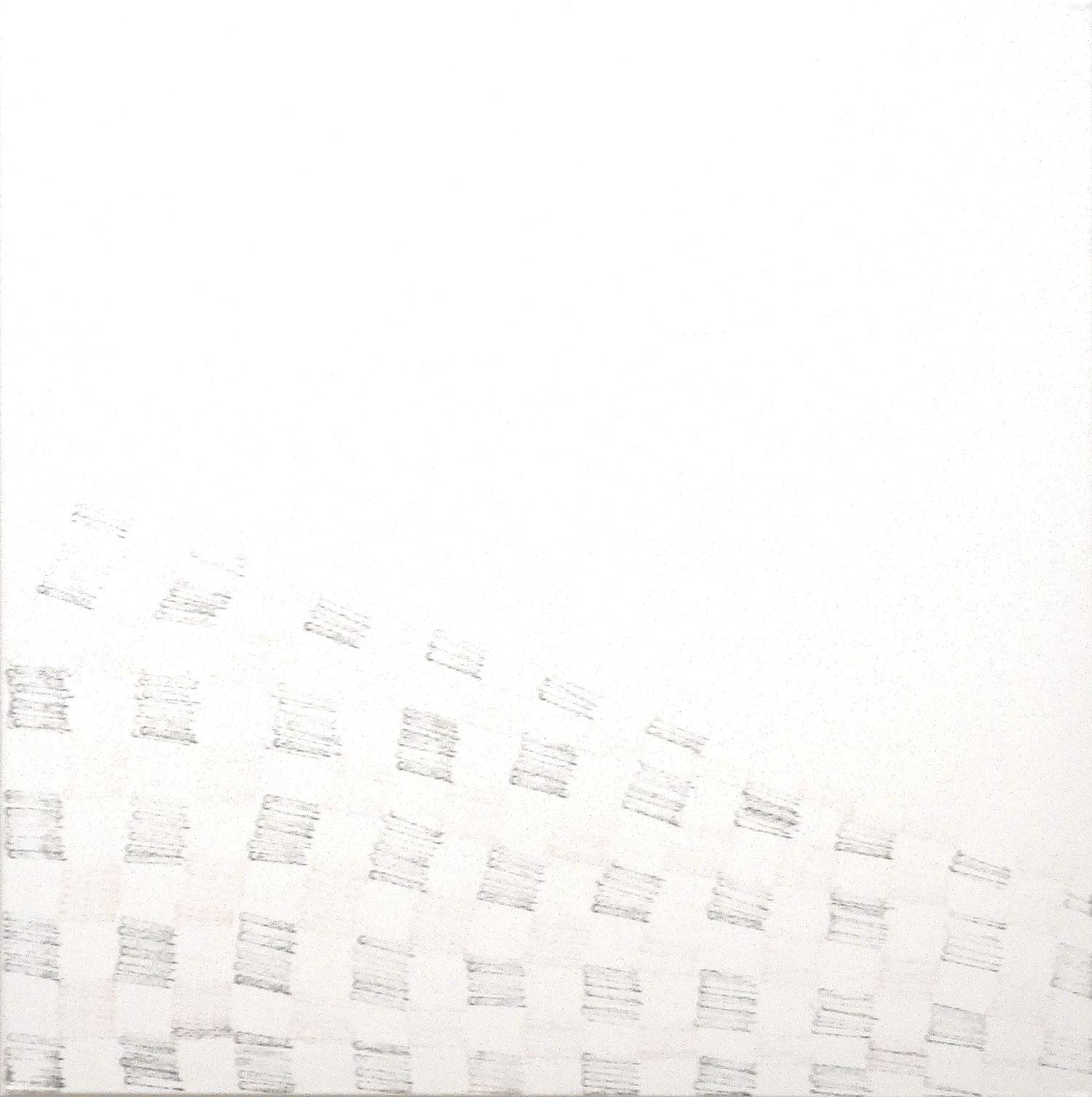 Zeitlos 1985  Oswald Oberhuber   Mixed media on canvas 70x70cm