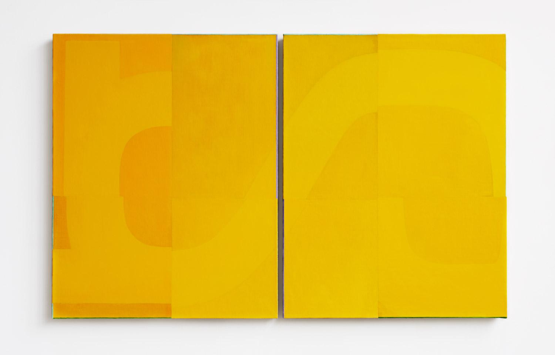 Triptych (x) 2019 Nathlie Provosty   Oil on linen, diptych, 48.26 x 77.47 cm Courtesy of Nathlie Provosty and APALAZZOGALLERY, Brescia   Photo: Zack Marcial Garlitos