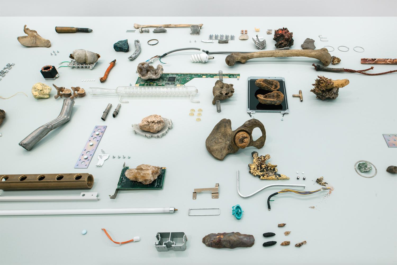 Posthuman flows 2019 (detail)  Nicolas Lamas  Various materials