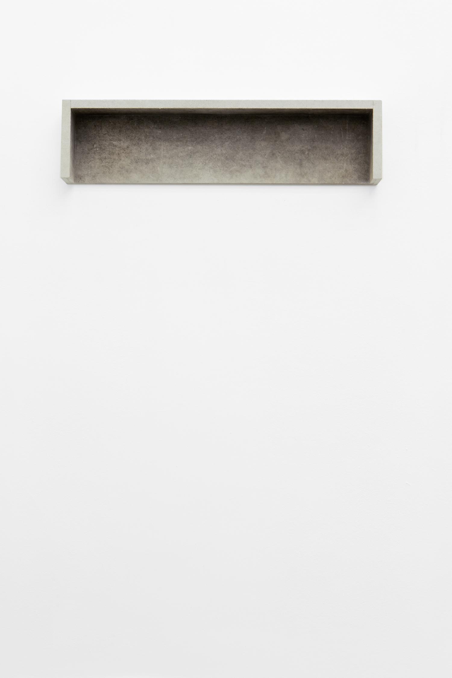Untitled 2016 Anita Leisz  Gypsum fibreboard, 26.5 x 110 x 11 cm Courtesy of the artist and Meyer Kainer, Vienna   Photo: Tina Herzl