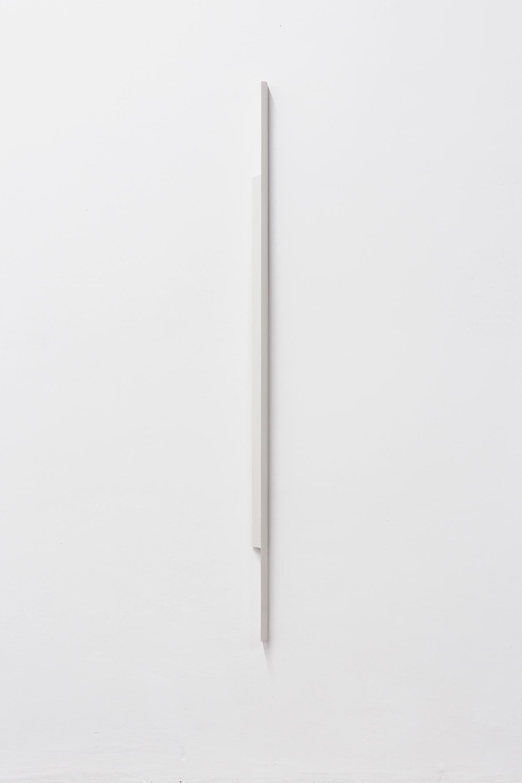Formed Speech (study) 2016  Florian Pumhösl  Gypsum, 103 x 13 x 3 cm Courtesy of the artist and Meyer Kainer, Vienna   Photo: Elad Sarig