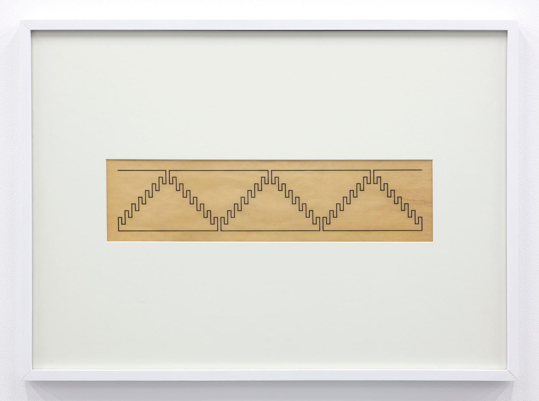 A00000 1926 Wacław Szpakowski  Ink on tracing paper, 16.8 x 54.5 cm Courtesy of the Estate of Wacław Szpakowski and Miguel Abreu Gallery, New York  Photo: Stephen Faught
