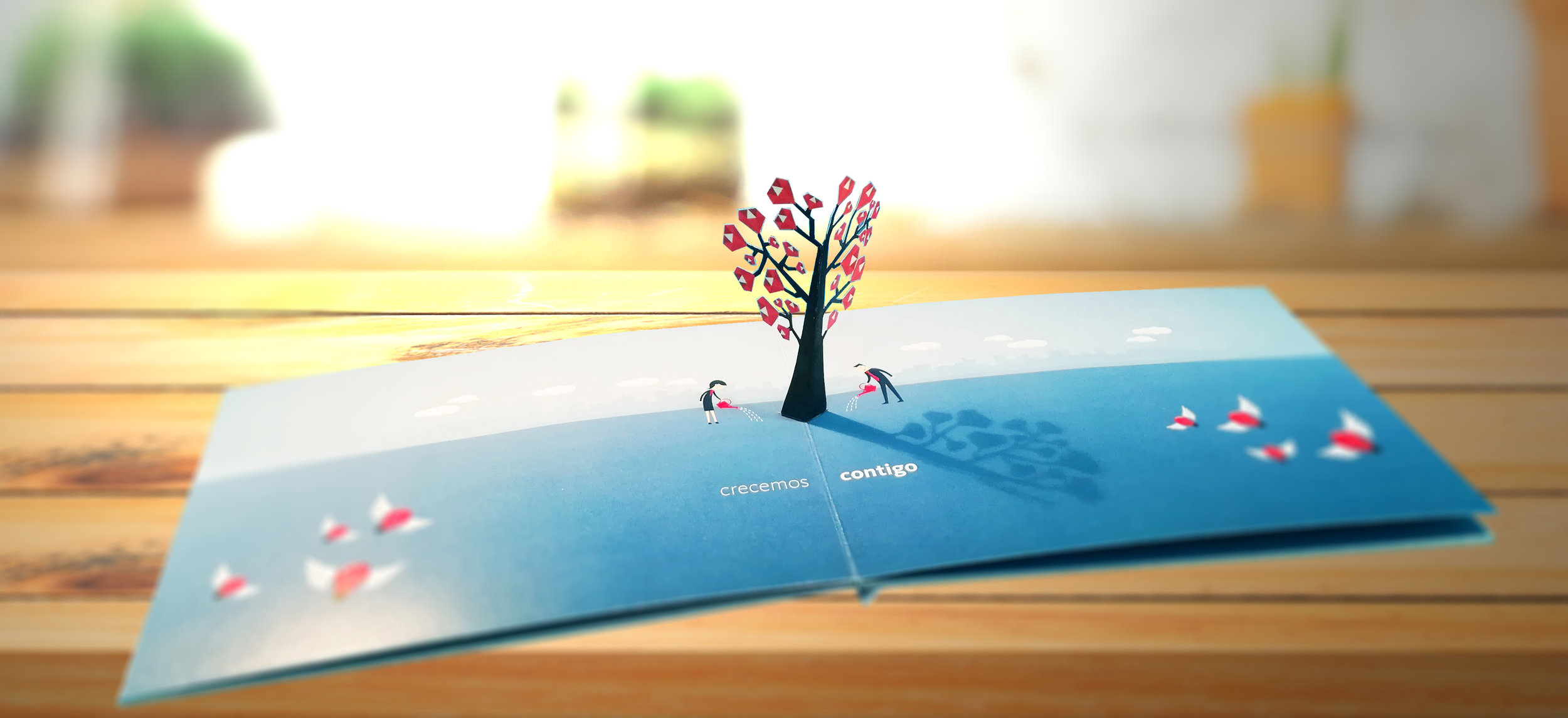 Crecemos contigo - Banco Santander /  Pop up