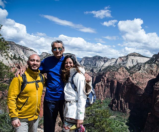 This photo was taken on the top of Angel's landing in Zion a few weeks ago and pretty much summarizes my father's lessons to me - he hiked the treacherous spine (where 16 people have died) without telling anyone, meeting us at the top with a look of pure joy. Appa, you have taught me to be fearless, to (calculatingly) push all boundaries, to know and live with vulnerability, to always learn new things, and to have so much fun along the way. Thanks for believing in me and my wildest dreams ❤️