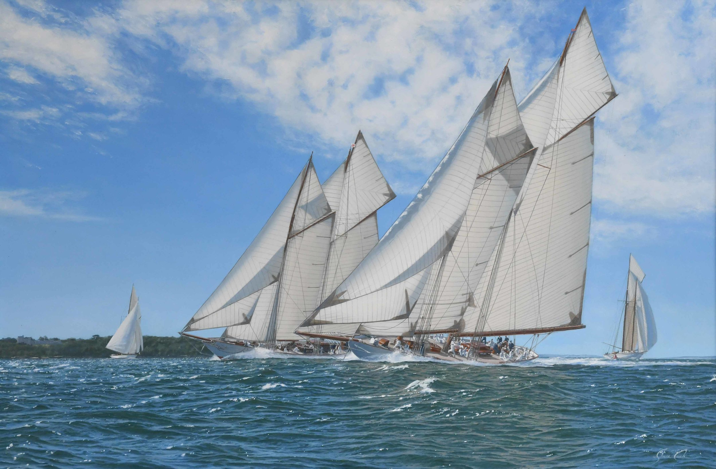 Ingomar vs Meteor 3 Cowes 1904 (Click Image above for historic background)