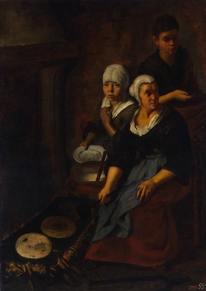 Above: Baking Flat Cakes by Bartolome Esteban Murillo (1617-1682). From the collection of the Hermitage Museum.