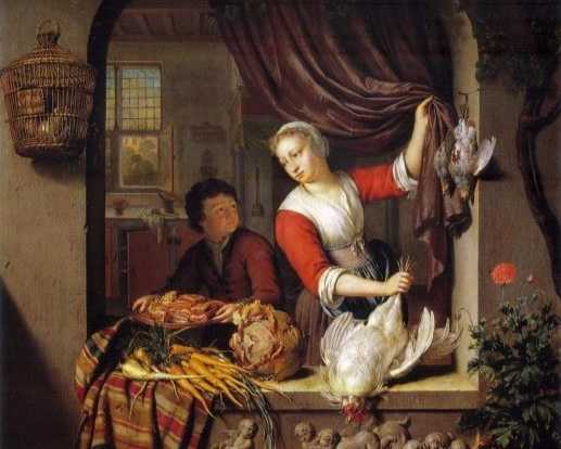 The Poulty Shop , Willem van Mieris (1662–1747). Image: Netherlands Institute for Art History
