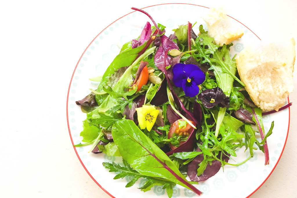 An Evelyn-inspired salad. Photo: Marco Vetch
