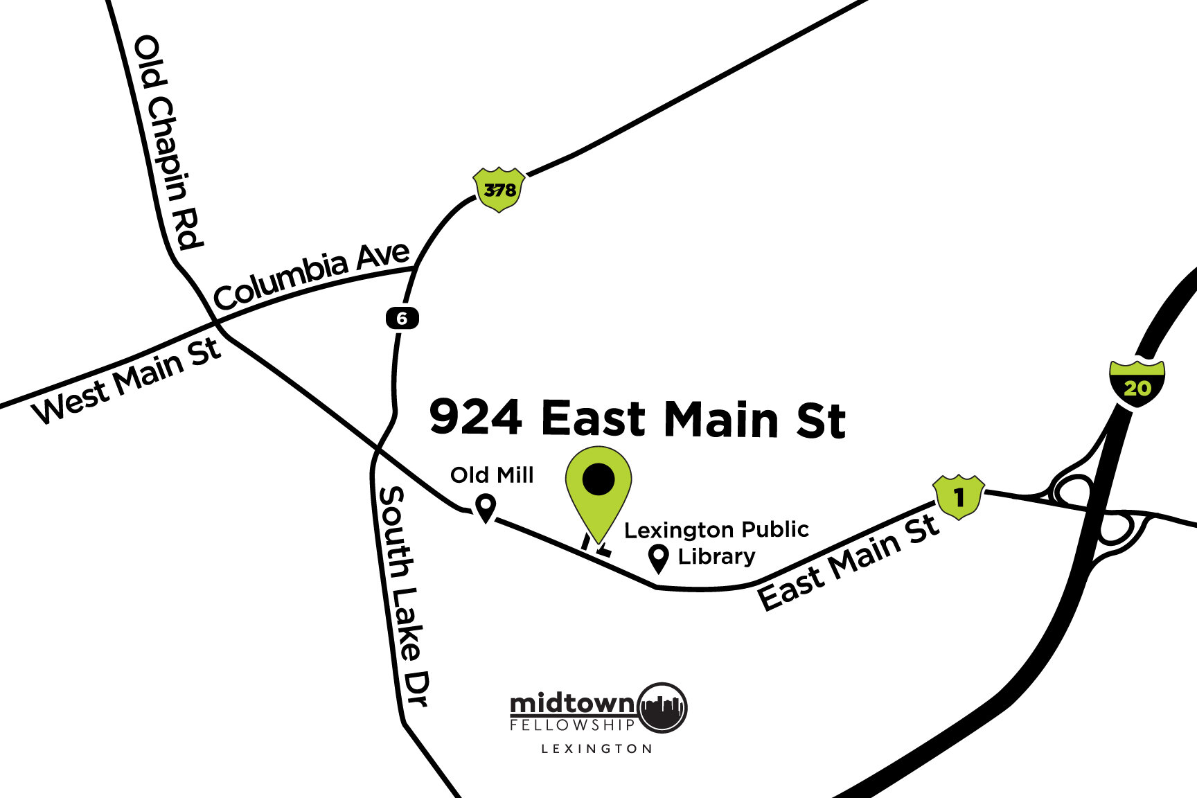 The proposed new location is 924 E. Main St. The building resides in the heart of Lexington, right off I-20 with quick access to surrounding areas.