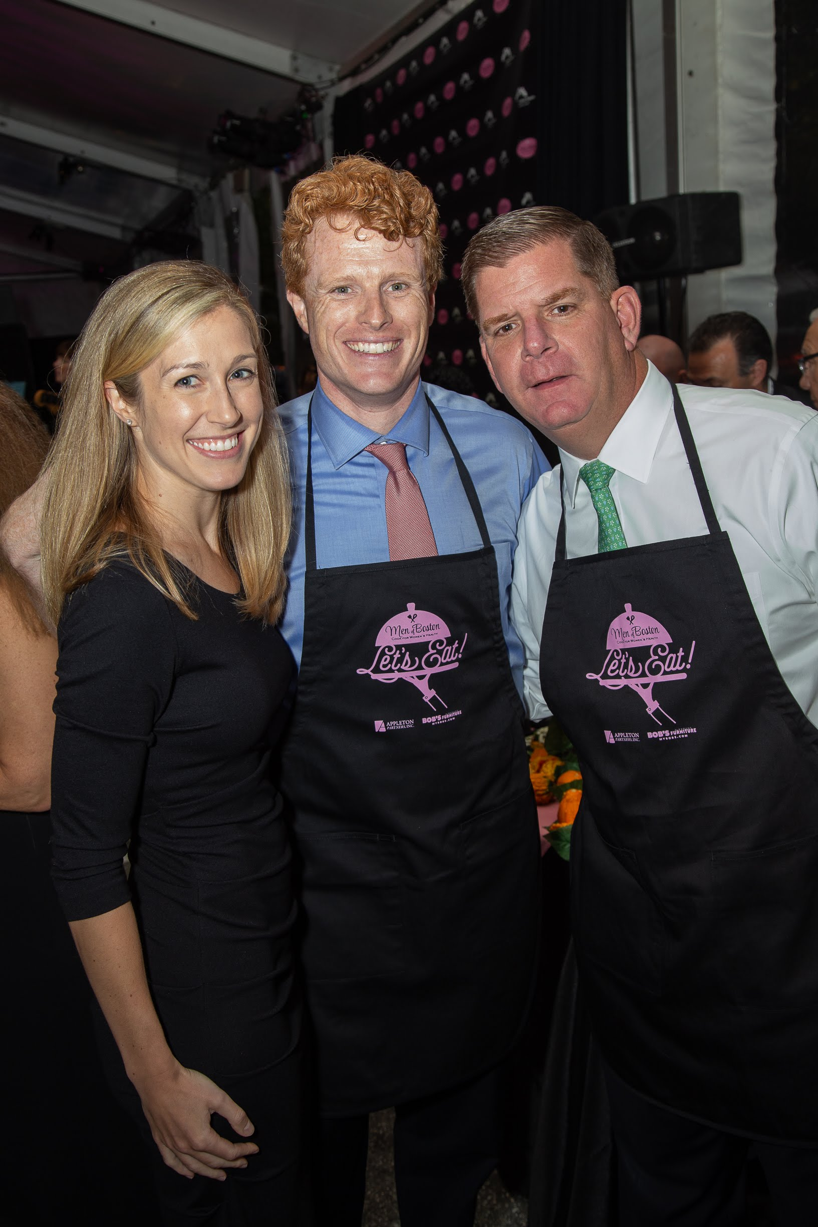 Mayor Walsh, Joe and Lauren Kennedy.jpg