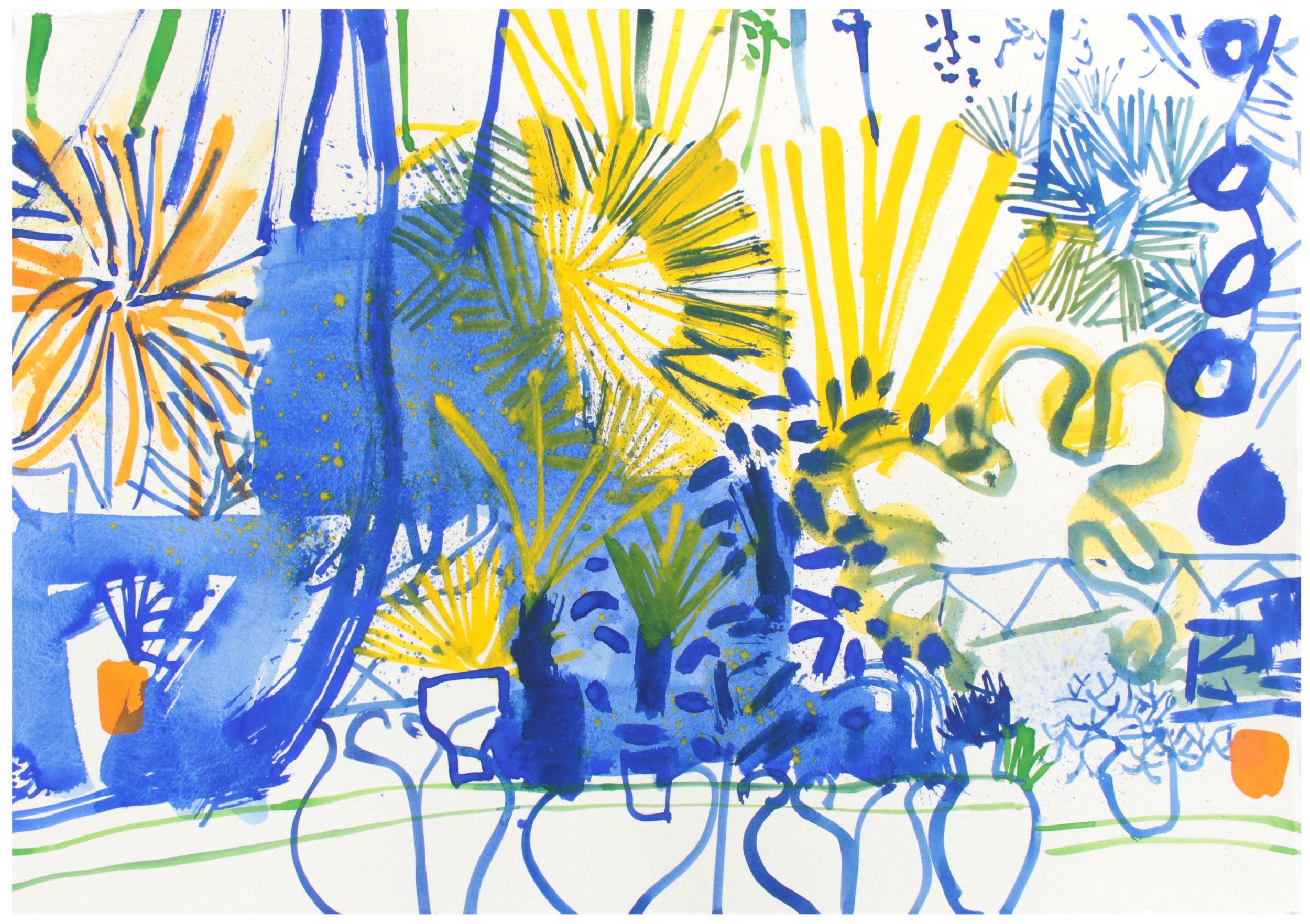 Majorelle Garden I 2015  38 x 56 cm  £600 Sold
