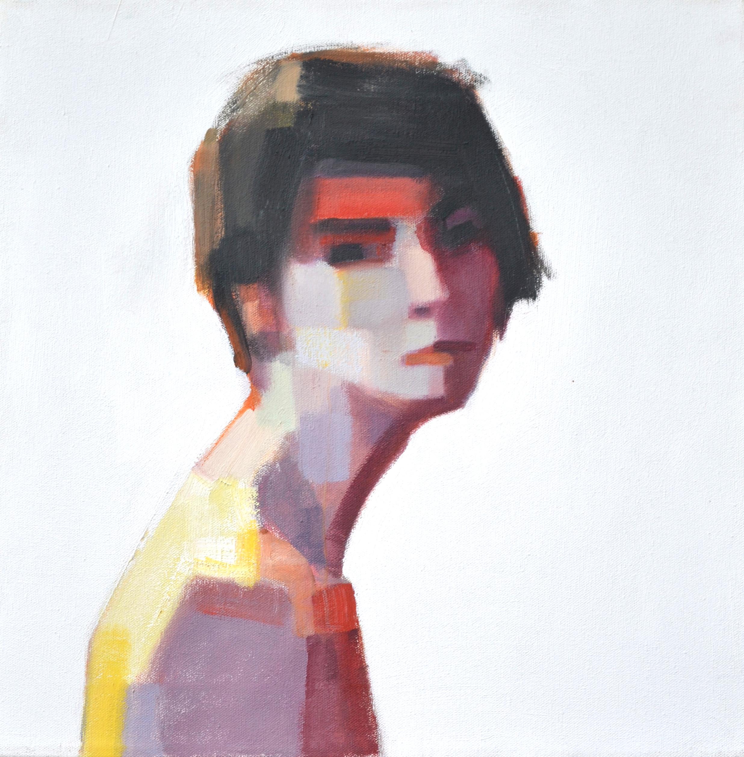 Frances Campani_Figure on White_16_X16__Oil on canvas.JPG