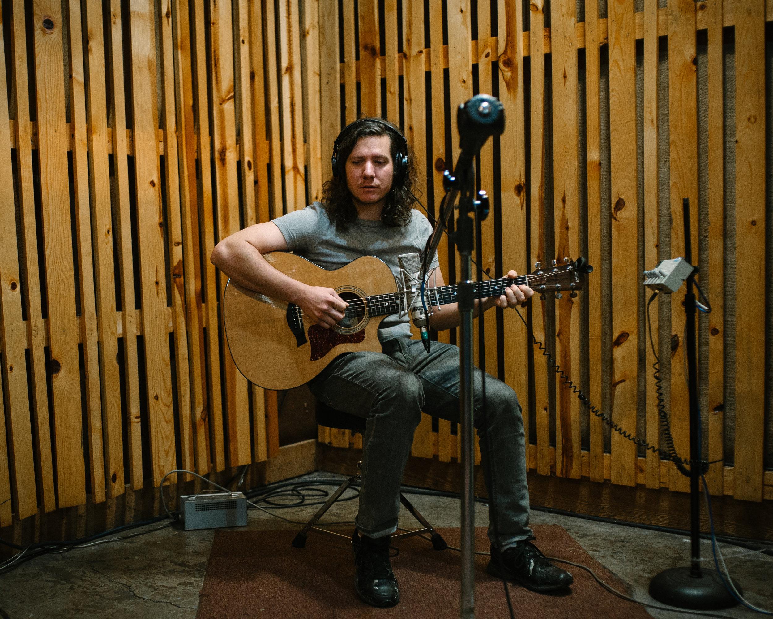 Kirk at Musicol Recording Studio