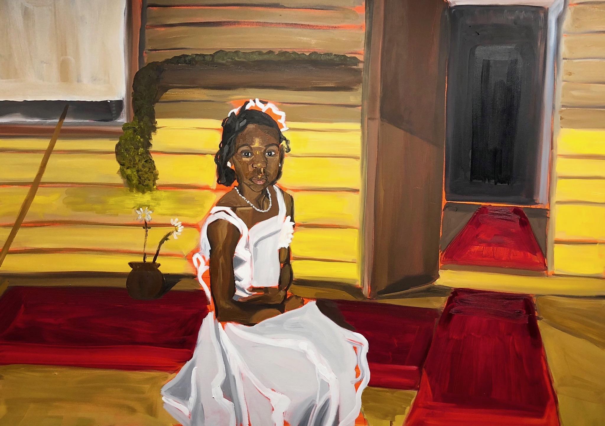 "Si   Oil on canvas  48"" x 72""  2018."