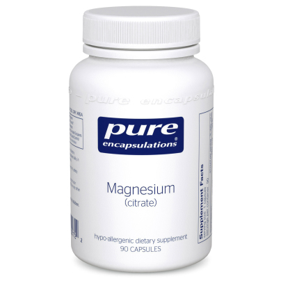 Pure Encapsulations Magnesium (Citrate) - If you feel depleted in magnesium (based on your symptoms) and struggle with chronic constipation, this is what I recommend.