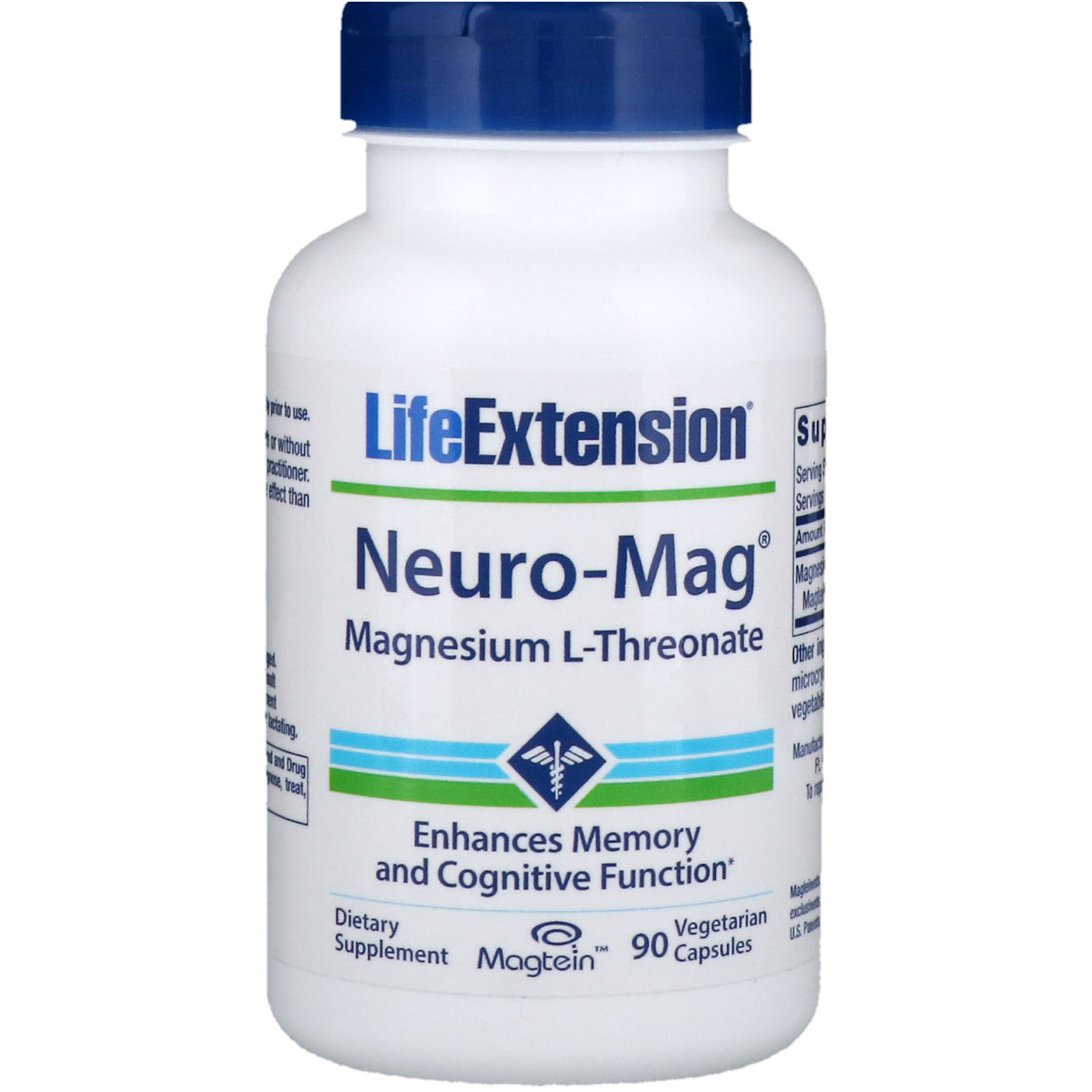 Life Extensions Neuro-Mg - Magnesium threonate may be especially beneficial for age-related cognitive decline. The suggested dose is 2,000 mg.