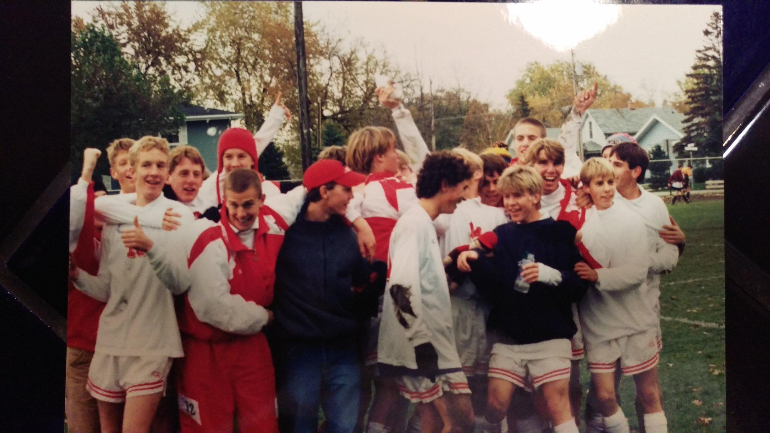 '95 Neenah Soccer State Bound... No pressure, just a blast!