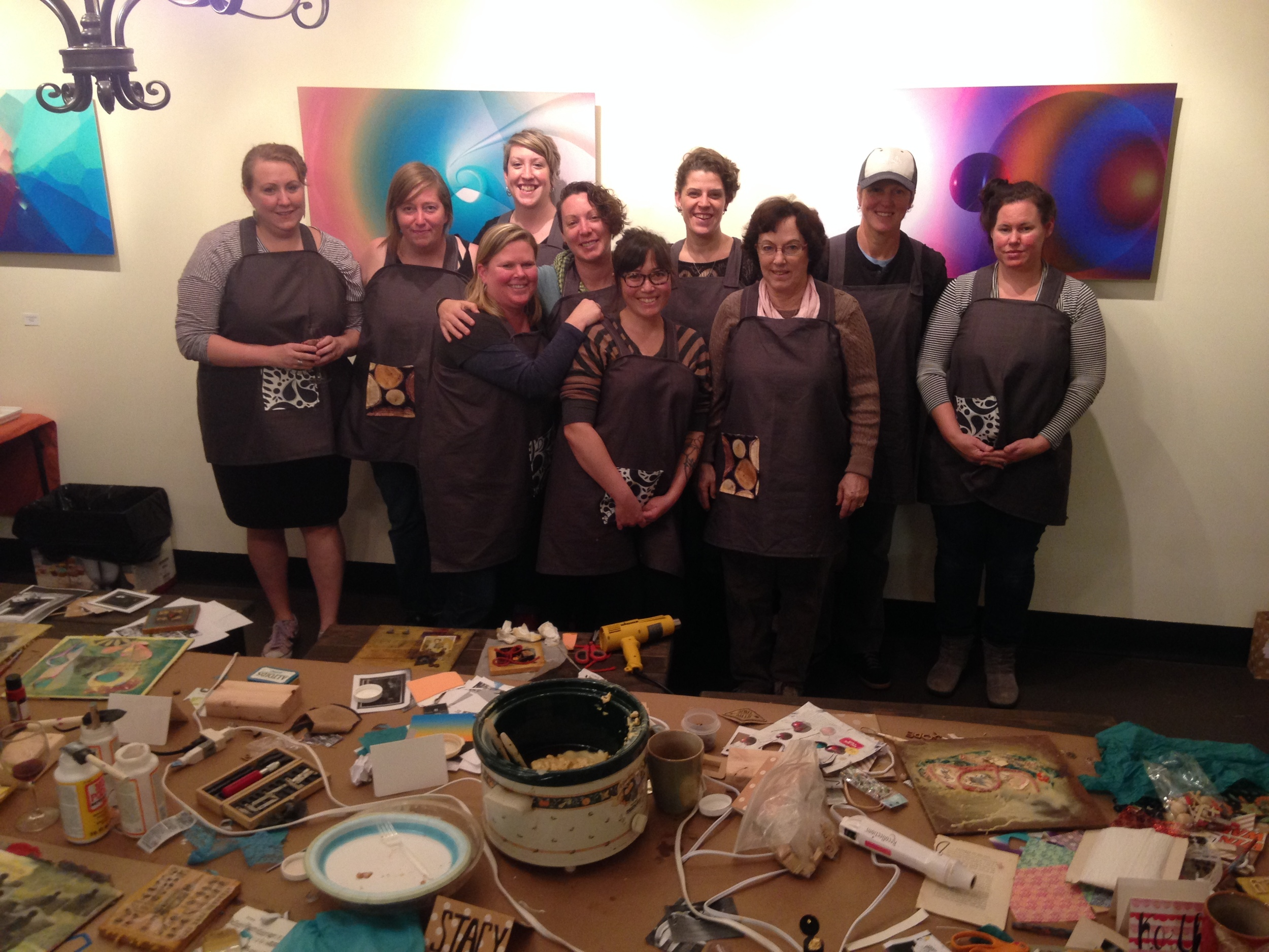 Mixed Media Beeswax Collage Class